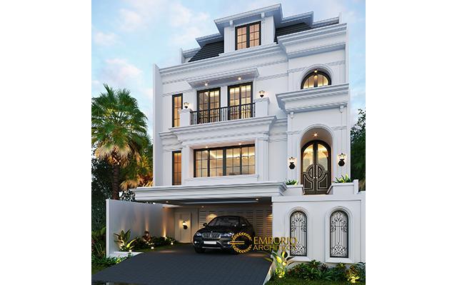 Desain Rumah Classic 3.5 Lantai Ibu Tien II di  Jakarta Selatan