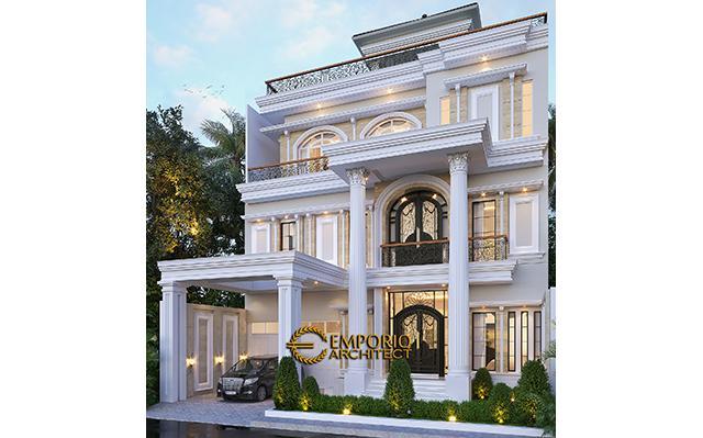 Desain Rumah Classic 3.5 Lantai Ibu Tyas di  Jakarta Selatan