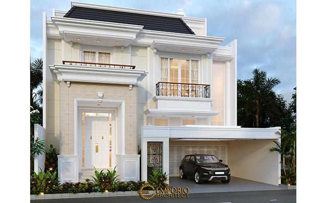 Desain Rumah Classic 3.5 Lantai Ibu Wiena di  Jakarta Selatan