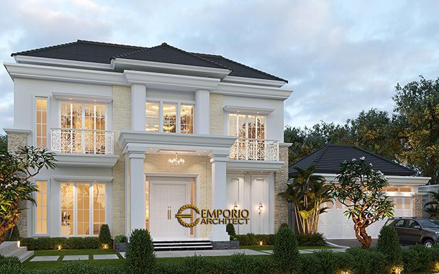 Desain Rumah Classic Modern 2 Lantai Bapak Kartika di  Cikeas, Bogor, Jawa Barat