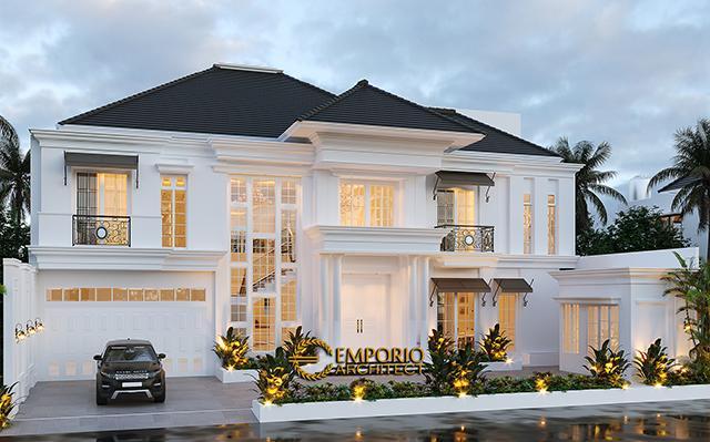 Desain Rumah Classic Modern 2 Lantai Ibu J di  Semarang, Jawa Tengah