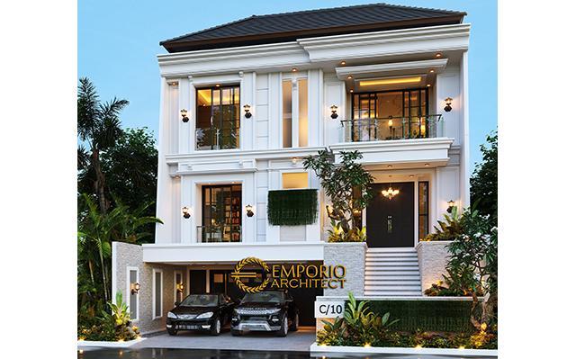 Desain Rumah Classic Modern 2.5 Lantai Ibu Chen di  Jakarta Barat