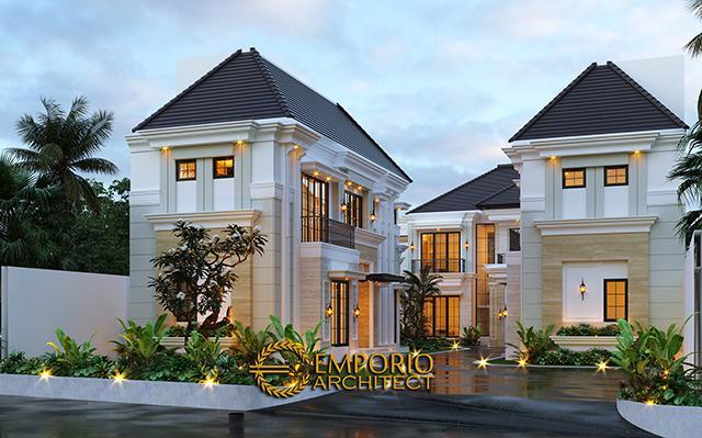 Desain Rumah Classic Modern 2.5 Lantai Bapak Ahmad di  Jakarta Selatan