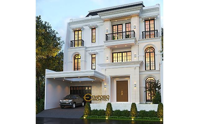 Mrs. Christine Classic Modern House 3 Floors Design - Jakarta