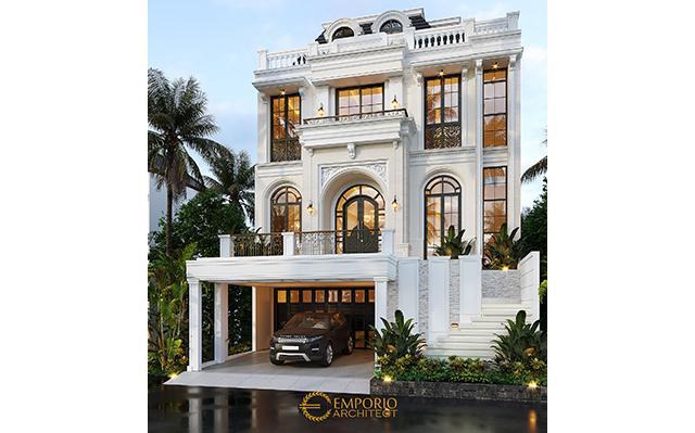 Desain Rumah Classic Modern 3.5 Lantai Bapak Ramses di  Tangerang Selatan, Banten