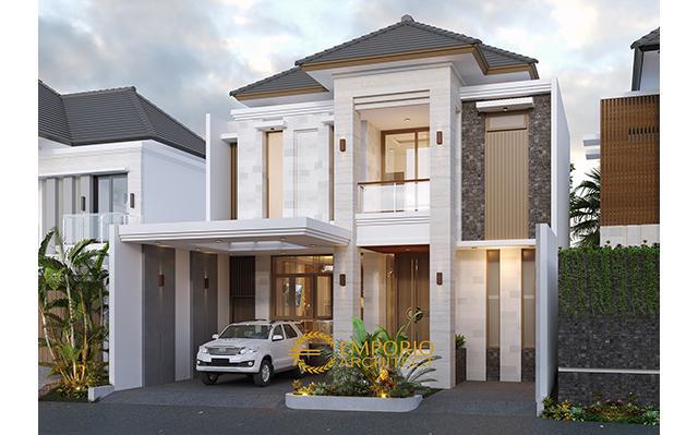 Desain Rumah dan Kost Modern 2 Lantai Ibu Wenny di  Jakarta