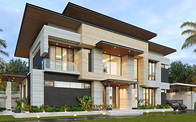 Desain Rumah dan Toko Modern 2 Lantai Ibu Niar di  Bekasi, Jawa Barat