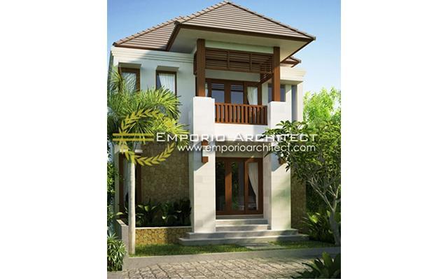 Desain Rumah Villa Bali 2 Lantai Ibu Dwi di  Denpasar, Bali