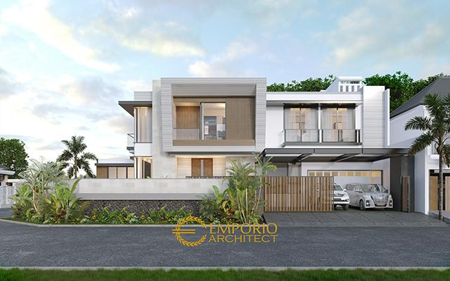 Desain Rumah Hook Modern 2 Lantai Ibu Dery di  Jakarta Utara
