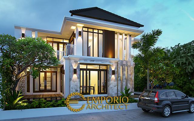 Desain Rumah Villa Bali 2 Lantai Ibu Ari Nugraheni di  Jakarta