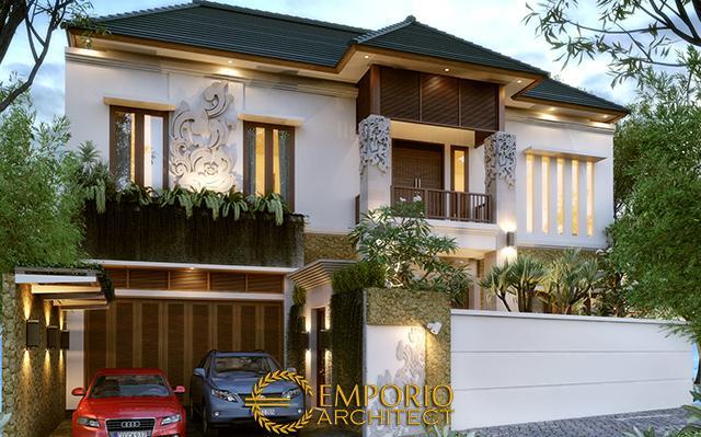 Desain Rumah Villa Bali 2 Lantai Ibu Dera di  Lumajang, Jawa Timur