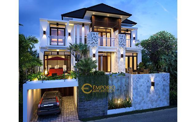 Desain Rumah Villa Bali 3 Lantai Ibu Irma Simbolon di  Jakarta