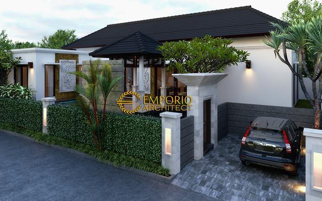 Desain Rumah Villa Bali 1 Lantai Ibu Karolina Dengen di  Batam