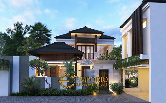 Desain Rumah Villa Bali 2 Lantai Ibu Nyoman Artini di  Kerobokan, Badung, Bali