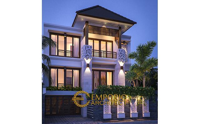 Desain Rumah Villa Bali 3 Lantai Ibu Ria Hanum di  Jatibening, Bekasi