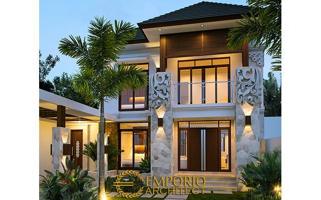 Desain Rumah Villa Bali 2 Lantai Ibu Yeny di  Jakarta