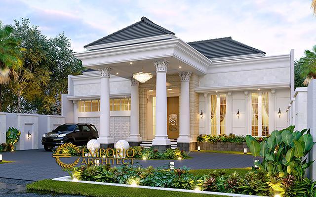 Desain Rumah Klasik 1 Lantai Bapak Hj. Hori di  Bogor, Jawa Barat