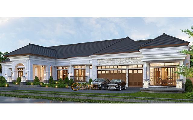 Desain Rumah Klasik 1 Lantai Ibu Fatimah di  Solo (Surakarta), Jawa Tengah