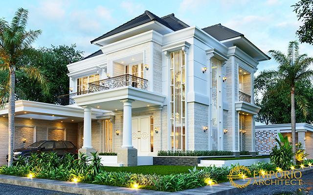 Desain Rumah Klasik 2 Lantai Ibu Titin di  Banjarmasin, Kalimantan Selatan