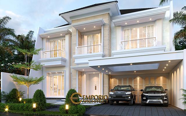 Desain Rumah Klasik 2 Lantai Bapak Rudolfo Sinaga di  Jakarta