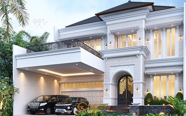 Desain Rumah Klasik 2 Lantai Bapak Mitchel di  Bogor, Jawa Barat