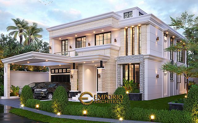 Desain Rumah Klasik 2 Lantai Bapak Hasbullah di  Jakarta
