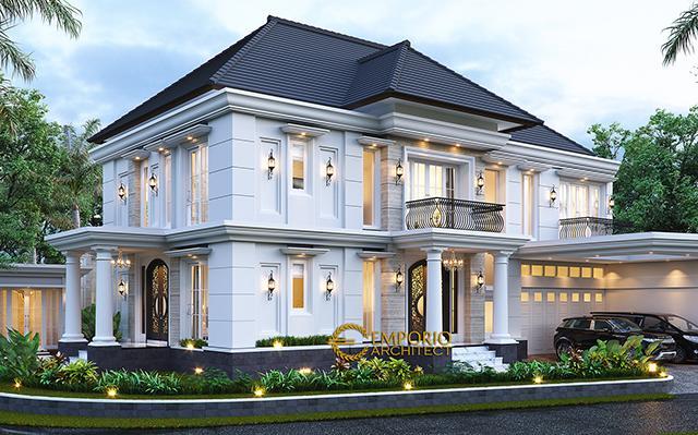 Desain Rumah Klasik 2 Lantai Bapak Mohammad di  Surabaya