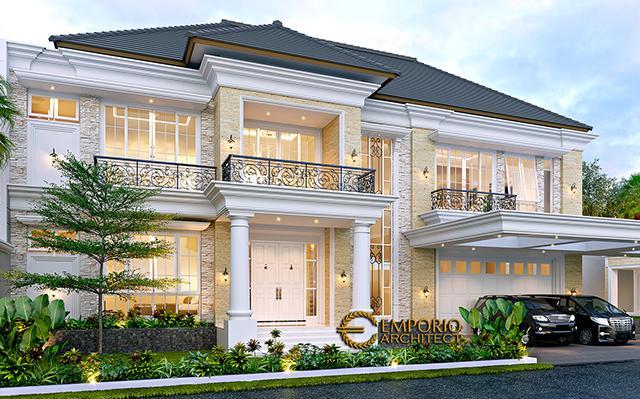 Desain Rumah Klasik 2 Lantai Bapak Alfi di  Bekasi