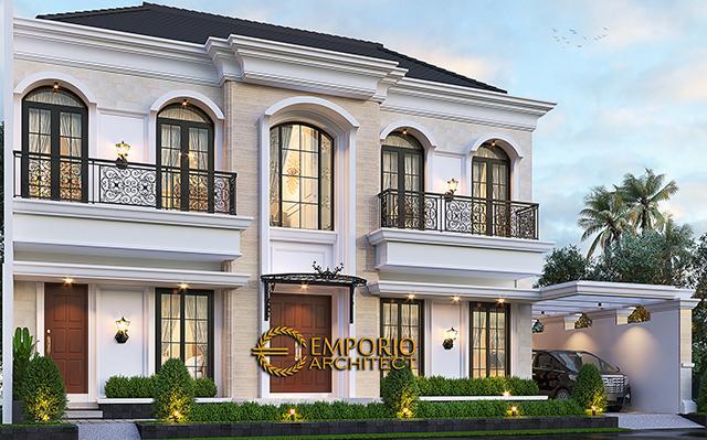 Desain Rumah Klasik 2 Lantai Bapak Andry Wisnu di  Jakarta