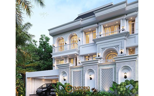 Desain Rumah Klasik 2.5 Lantai Bapak Taufik di  Bandung, Jawa Barat