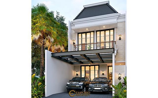 Desain Rumah Klasik 2.5 Lantai Bapak Firman di  Jakarta
