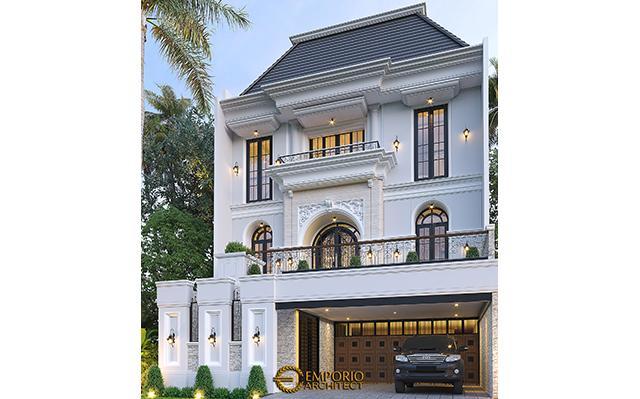 Desain Rumah Klasik 2.5 Lantai Bapak Sugih di  Jakarta