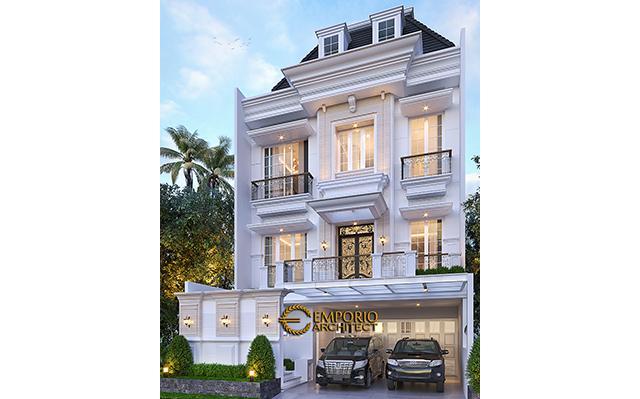 Desain Rumah Klasik 3 Lantai Bapak David di  PIK, Jakarta Utara