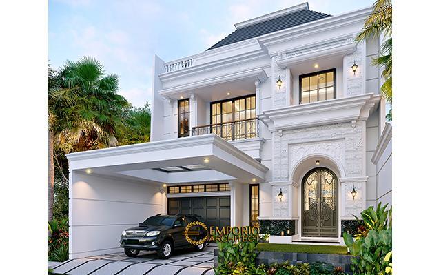 Desain Rumah Klasik 3 Lantai Ibu Reni di  Jakarta Barat
