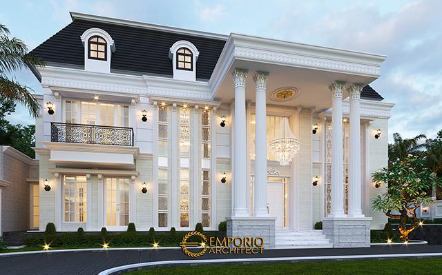 Desain Rumah Klasik 3 Lantai Bapak Heri di  Halmahera, Maluku Utara