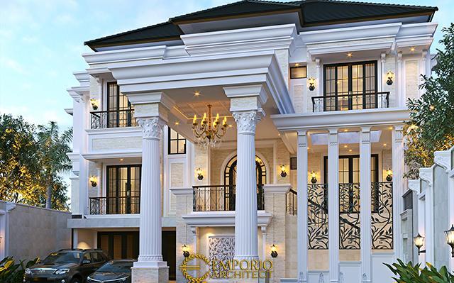 Desain Rumah Klasik 3 Lantai Bapak Febri di  Cilegon, Banten