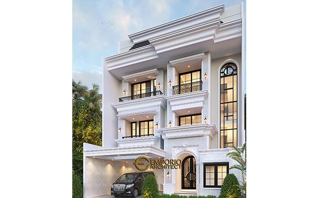 Desain Rumah Klasik 3.5 Lantai Ibu Irawati di  Tebet, Jakarta Selatan
