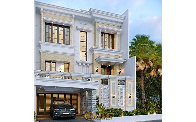 Desain Rumah Klasik 3.5 Lantai Bapak Yanto di  Jakarta