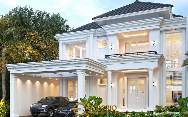 Desain Rumah Klasik Modern 2 Lantai Bapak Deni di  Blitar, Jawa Timur