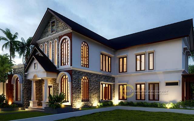 Desain Rumah Klasik Modern 2 Lantai di  Denpasar, Bali