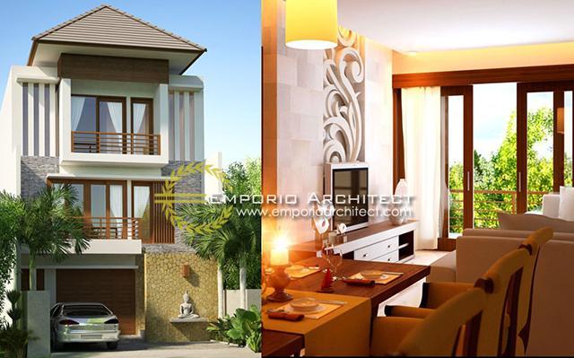 Desain Rumah Villa Bali 3 Lantai Bapak Lesmana di  Denpasar, Bali