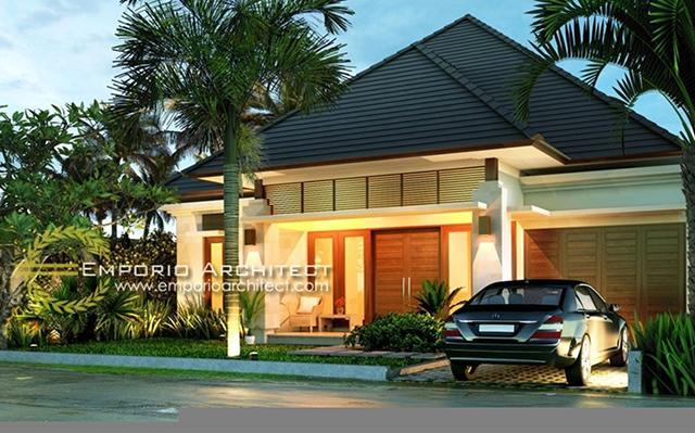 Desain Rumah Villa Bali 1 Lantai Bapak Marvin di  Balikpapan, Kalimantan Timur