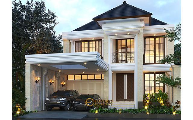 Desain Rumah Mediteran 2 Lantai Ibu Nurul di  Ponorogo, Jawa Timur