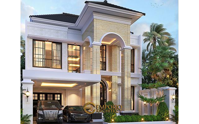 Desain Rumah Mediteran 2 Lantai Bapak Royke Poluakan di  BSD, Tangerang Selatan, Banten