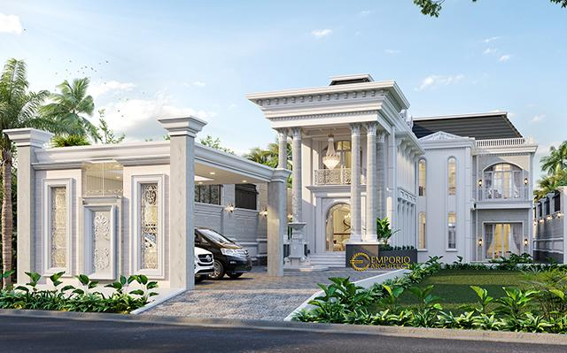 Desain Rumah Classic 2 Lantai Bapak Faozian di  Bandung, Jawa Barat