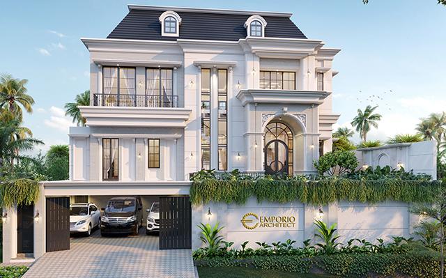 Desain Rumah Mediteran 2.5 Lantai Bapak Amir Prayoga di  Malang, Jawa Timur
