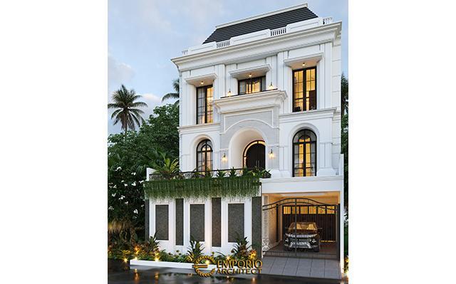 Desain Rumah Mediteran 3 Lantai Ibu Febriana di  Jakarta