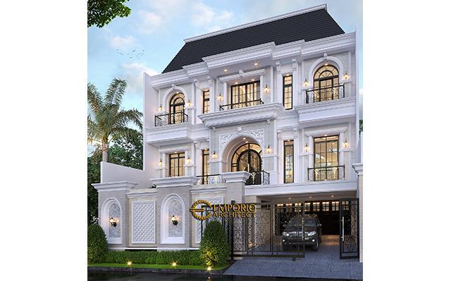 Desain Rumah Mediteran 3 Lantai Ibu Debbie di  Jakarta Utara