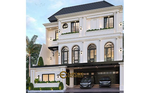 Desain Rumah Mediteran 3 Lantai Ibu Adiezty di  Bekasi, Jawa Barat
