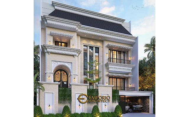 Desain Rumah Mediteran 3.5 Lantai Bapak Fudy di  Jakarta Barat